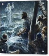 Christ Walking On The Sea Of Galilee Acrylic Print