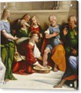 Christ Washing The Disciples' Feet Acrylic Print