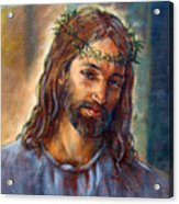 Christ With Thorns Acrylic Print