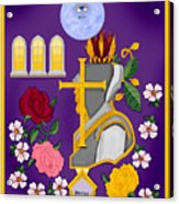 Christian Knights Of The Cross And Rose Acrylic Print