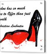 Christian Louboutin Shoes 4 Acrylic Print