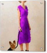 Christina Acrylic Print by Nancy Levan