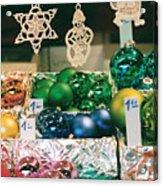 Christkindlmarkt Vienna Ornaments Acrylic Print