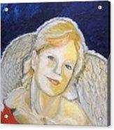 Christmas Angel   Finished Acrylic Print