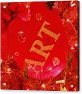 Christmas Artist's Pallet Acrylic Print