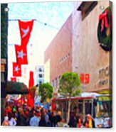 Christmas At Macys In San Francisco . Photoart Acrylic Print