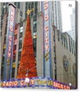Christmas At Radio City Music Hall Acrylic Print