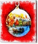 Christmas Ball Ball Acrylic Print