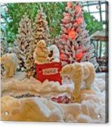 Christmas Bears Acrylic Print