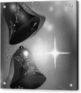 Christmas Bells In Black And White Acrylic Print
