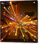 Christmas Bike Abstract Acrylic Print