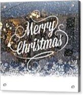 Christmas Blizzard Acrylic Print