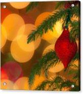Christmas Bokeh Acrylic Print