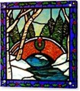 Christmas Bridge Acrylic Print