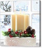 Christmas Candles Display Acrylic Print