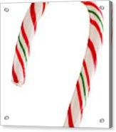 Christmas Candy Cane Acrylic Print