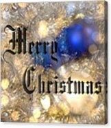 Christmas Card Design Merry Christmas Acrylic Print by Karen Musick