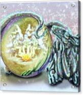 Christmas Card Dragon 2015 Acrylic Print