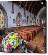 Christmas Church Flowers Acrylic Print