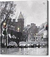 Christmas City Street Acrylic Print