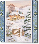 Christmas Cottage Acrylic Print