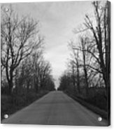 Christmas Day Country Road Acrylic Print