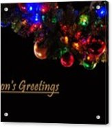 Christmas Decoration Greeting  Acrylic Print
