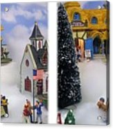 Christmas Display - Gently Cross Your Eyes And Focus On The Middle Image Acrylic Print