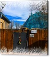 Christmas Down The Alleyway Acrylic Print