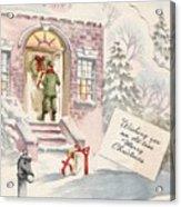 Christmas Greeting Card 36 - Snowy Winter Eve  Acrylic Print