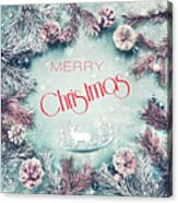 Christmas Greeting Card, By Imagineisle Acrylic Print