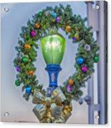Christmas Holiday Wreath With Balls Acrylic Print