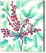 Christmas Holly Acrylic Print