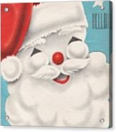 Christmas Illustration 1231 - Vintage Christmas Cards - Santa Claus Acrylic Print