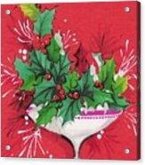 Christmas Illustration 1241 - Vintage Christmas Cards - Mistletoe Acrylic Print