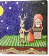 Christmas Illustration Acrylic Print