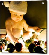 Christmas In A Baby's Eyes Acrylic Print