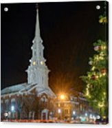 Christmas In Market Square Acrylic Print