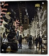 Christmas In Nyc Acrylic Print