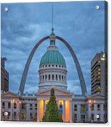 Christmas Jefferson National Expansion Memorial St Louis 7r2_dsc3574_12112017 Acrylic Print