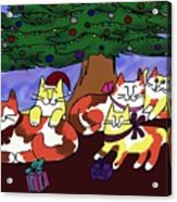 Christmas Kitties  Acrylic Print