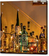 Christmas Lights And Bottles 4197t Acrylic Print