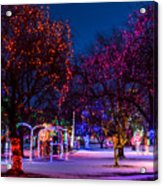 Christmas Lights At Locomotive Park Acrylic Print