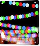 Christmas Lights Bokeh Blur Acrylic Print