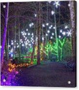 Christmas Lights Decoration Along Lafarge Lake Path Acrylic Print