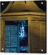 Christmas Lights In Gazebo Acrylic Print