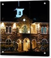 Christmas Lights In Sonoma, California Acrylic Print