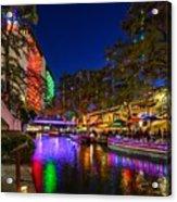 Christmas Lights On The Riverwalk 2 Acrylic Print