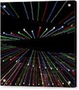 Christmas Lights Zoom Blur Acrylic Print