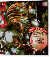 Christmas Martini 4389 Acrylic Print